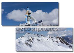 Прыгающий сноубордист