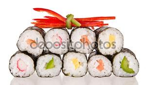 Суши на белом