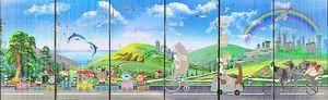 Зверята на паровозике и велосипедах