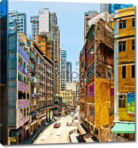 Гонконг города Просмотр улиц