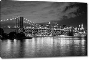 Бруклинский мост и Манхэттен, Нью-Йорк