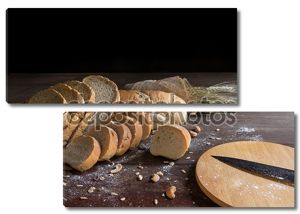 Стол с нарезанным хлебом