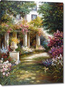 Невероятно красивый сад с множеством цветов