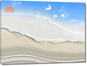 Песочная сопка на плитке