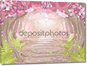 Магия весенний лес для девочки