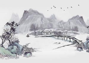 Деревянный мост к острову