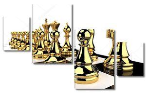 Золотой шахматные фигуры