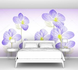 Светло синие цветы
