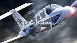 Летящий самолет