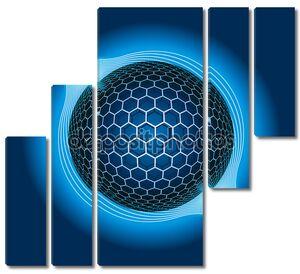 Фантазия электрические сфера. Векторные иллюстрации