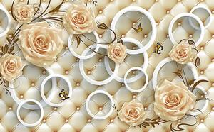 Кольца и розы на коже