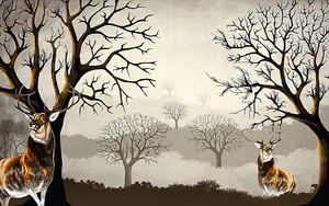 Два статных оленя