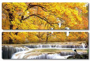 Осень.Водопад