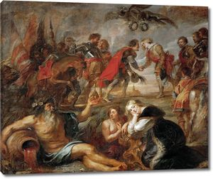 Рубенс. Встреча императора Фердинанда III с кардиналом-инфантом Фердинандом перед битвой у Нордлингена