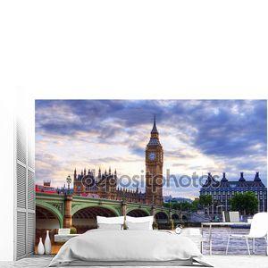 Вестминстерский мост с Биг Бен в Лондоне