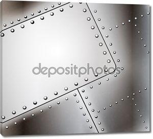 Вектор клепаных металлический фон