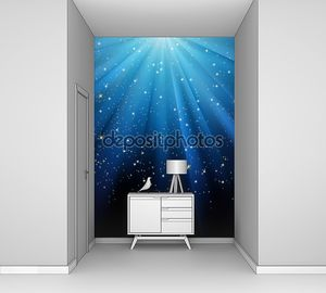 Звезды на синий полосатый фон. EPS 8