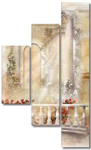 Милый балкон с цветами