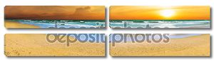 Панорамный пляж закат