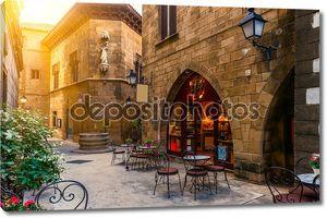 Poble espanyol - традиционной архитектуры в Барселоне, Испания