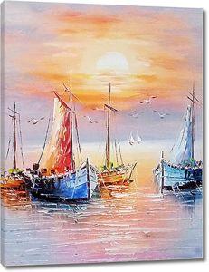 Лодки на приколе