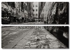 переулок граффити