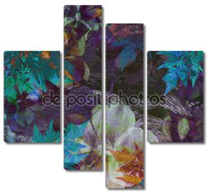 Art floral grunge background