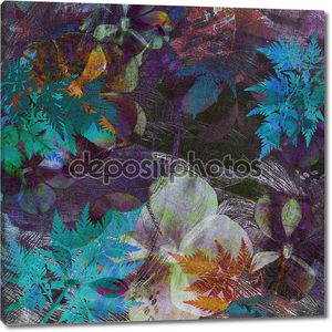 Art floral grunge background