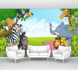 Различные  животные в джунглях