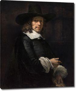 Рембрандт. Портрет джентльмена в высокой шляпе и перчатках