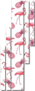 Фламинго с ананасами