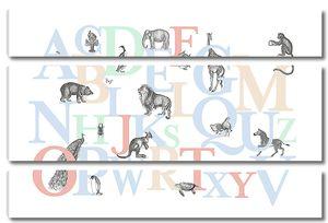 Английские буквы с животными