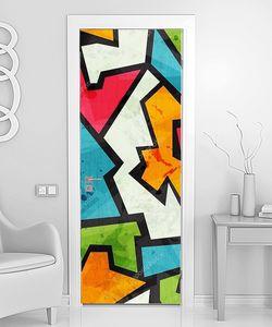 Граффити мозаика с гранж эффектом