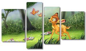 Бэмби с бабочками