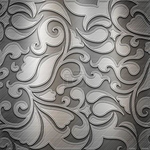 Серебряная пластина с классическим орнаментом