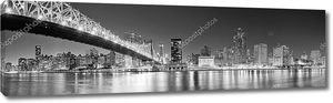 Черно-белая панорама Нью-Йорка