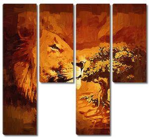 Яркая львиная голова