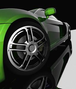 Колесо автомобиля крупным планом