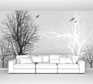 Черное и белое дерево