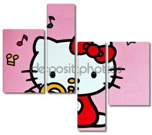 Привет Китти играет на трубе