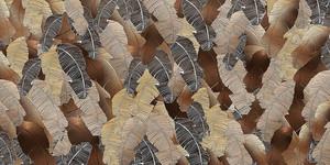 Pletora-пальмовые листья в коричневой гамме