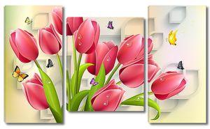 Тюльпаны и бабочки