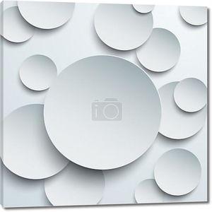 Бумага белая круги