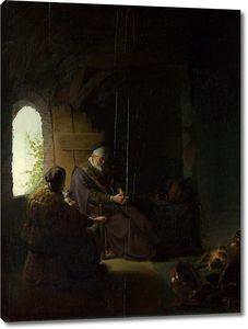 Рембрандт. Анна и слепой Товит