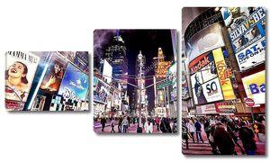 Таймс-сквер Бродвея в Нью-Йорке