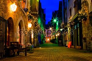 улица ночью старый города Голуэй