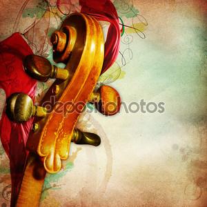 Ретро музыкальный фон с контрабасом