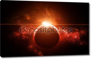 Планета с восходящая звезда