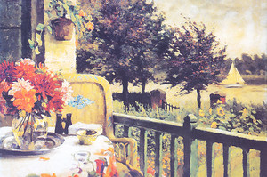 Уютная веранда с видом на сад