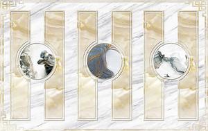 Дизайн из мрамора разного цвета